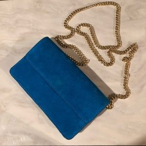 Banana Republic Italian Suede colbalt blue purse